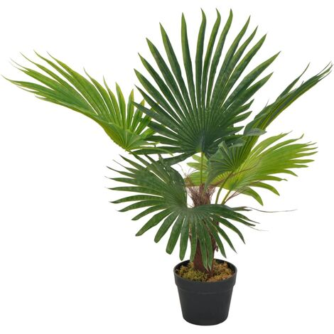 vidaXL Planta artificial palmera con macetero 70 cm verde - Multicolore
