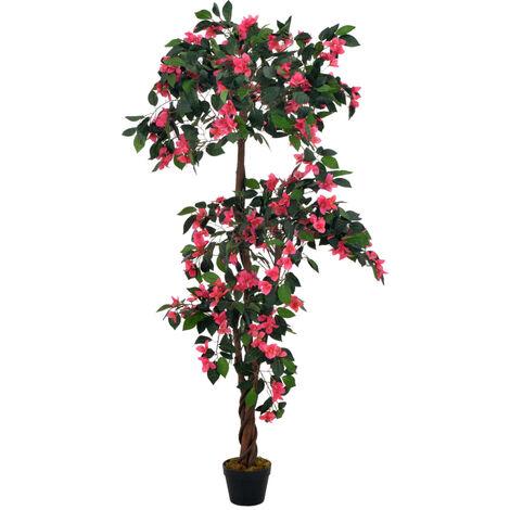 vidaXL Planta artificial rododendro con macetero rosa 165 cm - Rosa