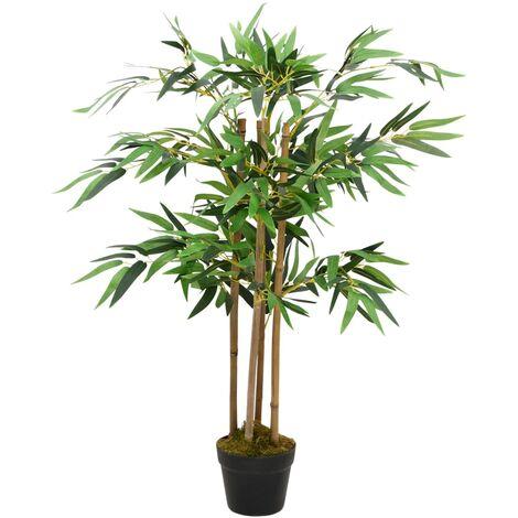 vidaXL Planta de Bambú Artificial con Macetero Decoración Comedor Oficina Despacho Salón Sala de Estar Árbol Restaurante 90 cm/80 cm