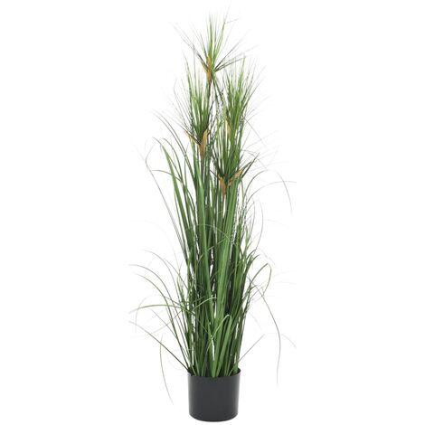 vidaXL Planta de hierba artificial 120 cm - Verde
