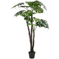 vidaXL Planta de monstera artificial con maceta 130 cm verde (no se puede enviar a Baleares)