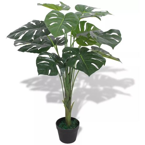vidaXL Planta de monstera artificial con maceta 70 cm verde