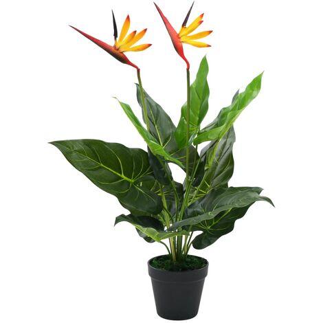 vidaXL Planta Strelitzia Reginae Ave del Paraíso Artificial Maceta 66/155 cm