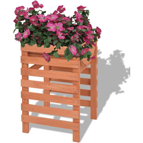 vidaXL Planter 38x36x60 cm Wood - Beige