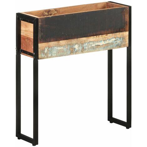 vidaXL Planter 60x20x68 cm Solid Reclaimed Wood - Multicolour