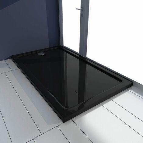 vidaXL Plato de ducha ABS negro 70x120 cm - Negro