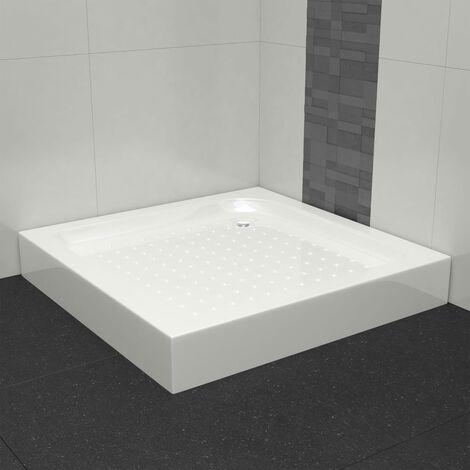 vidaXL Plato de ducha acrílico blanco 70x70x13,5 cm - Blanco