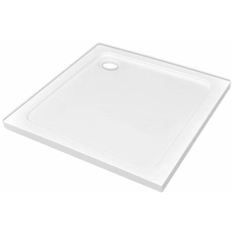 vidaXL Plato de ducha cuadrado de ABS blanco 80x80 cm - Blanco