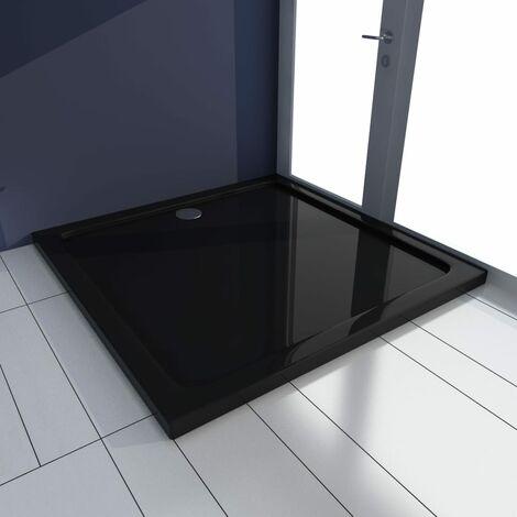vidaXL Plato de ducha cuadrado de ABS negro 90x90 cm - Negro