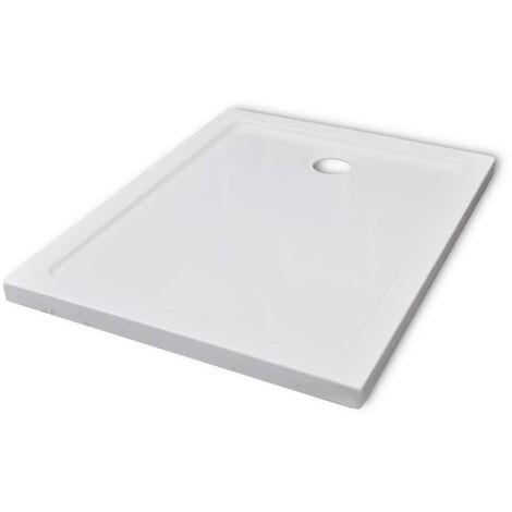 vidaXL Plato de ducha rectangular ABS 70x90 cm - Bianco