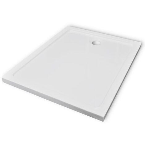 vidaXL Plato de ducha rectangular ABS 80x100 cm - Blanco