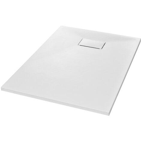 vidaXL Plato de ducha SMC blanco 100x70 cm - Blanco