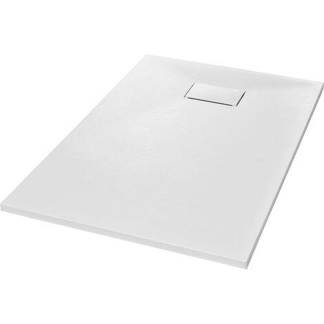 vidaXL Plato de ducha SMC blanco 120x70 cm - Blanco