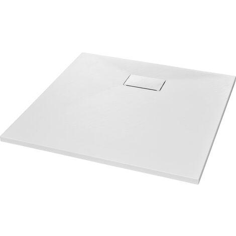 vidaXL Plato de ducha SMC blanco 80x80 cm - Blanco