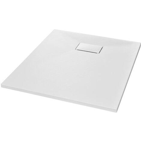 vidaXL Plato de ducha SMC blanco 90x70 cm - Blanco