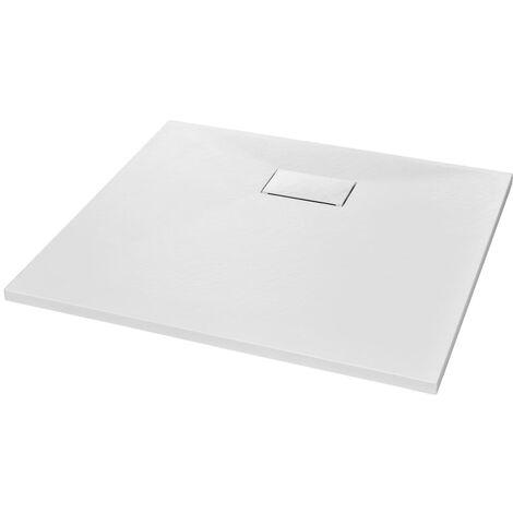 vidaXL Plato de ducha SMC blanco 90x80 cm - Blanco