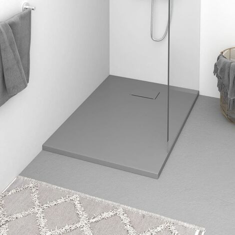vidaXL Plato de ducha SMC gris 100x70 cm - Gris