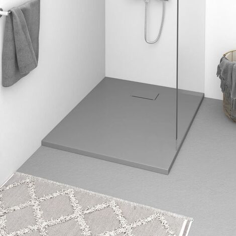 vidaXL Plato de ducha SMC gris 100x80 cm - Gris