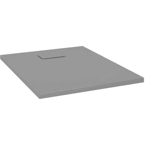 vidaXL Plato de ducha SMC gris 90x70 cm - Gris