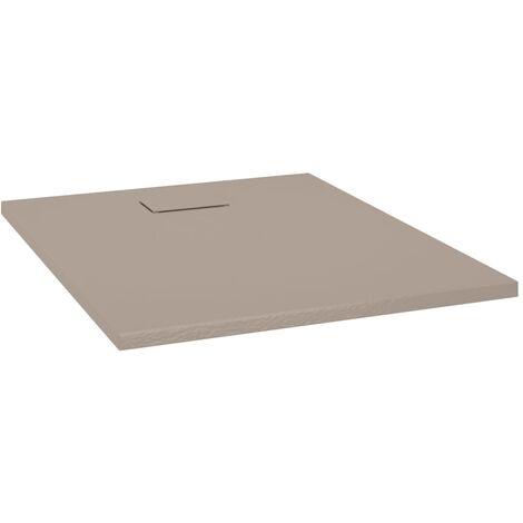 vidaXL Plato de ducha SMC marrón 100x80 cm - Marrón