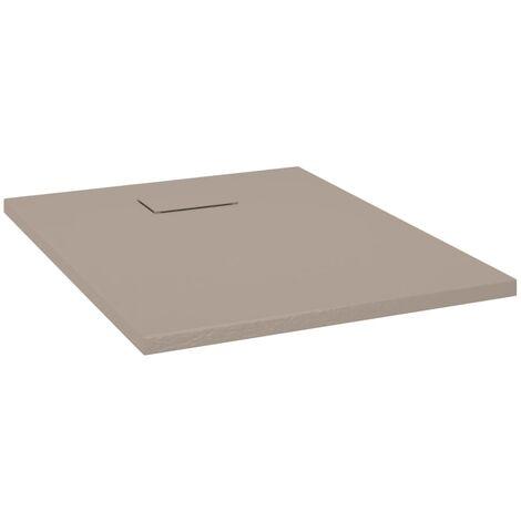 vidaXL Plato de ducha SMC marrón 90x70 cm - Marrón