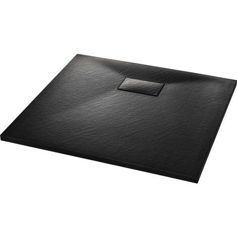 vidaXL Plato de ducha SMC negro 90x80 cm - Negro