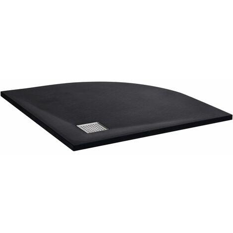 vidaXL Plato de ducha SMC negro 90x90 cm - Negro