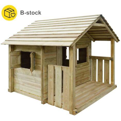 vidaXL Playhouse with 3 Windows 204x204x184 cm Wood - Brown