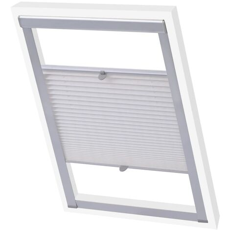 vidaXL Pleated Blind White CK02 - White