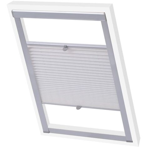 vidaXL Pleated Blind White SK06 - White