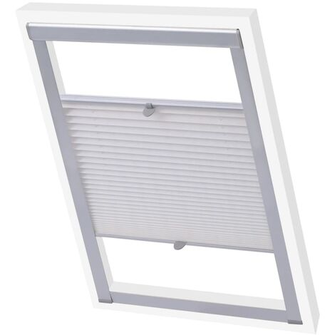 vidaXL Pleated Blinds White C04 - White