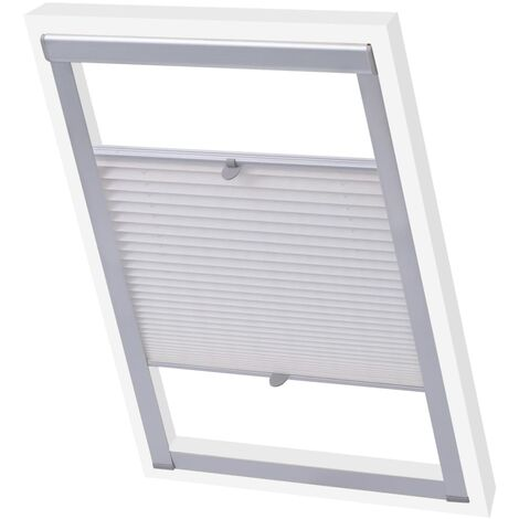 vidaXL Pleated Blinds White P06/406 - White