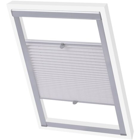 vidaXL Pleated Blinds White S08/608 - White