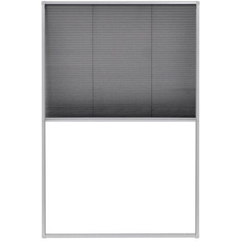 vidaXL Plisse Insect Screen for Windows Aluminium Curtain Mesh Net Multi Sizes