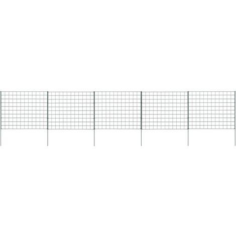vidaXL Pond Fence Set 77.5x64 cm Green - Green