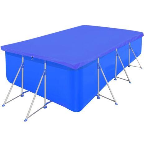 vidaXL Pool Cover PE Rectangular 90g/m? Guard Protection Sheet Multi Sizes