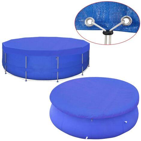 vidaXL Pool Cover PE Round 460 cm 90 g/m² - Blue