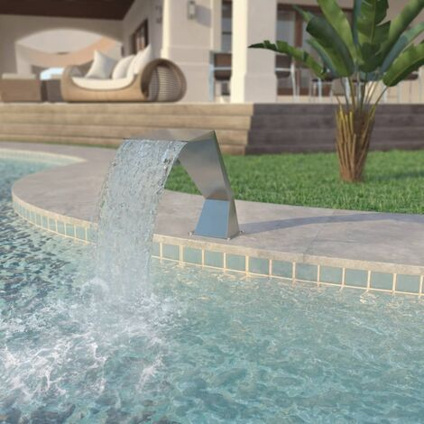 vidaXL Pool Fountain Stainless Steel 64x30x52 cm Silver - Silver