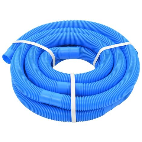 vidaXL Pool Hose Pool Spa Cleaner Vacuum Hose Pool Pipe Supply Equipment Pool Accessory with Clamps/No Clamps Blue 38 mm/32 mm Multi Size