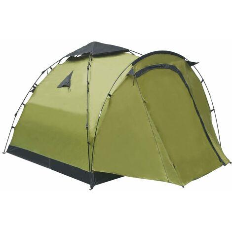 vidaXL Pop Up Camping Tent 3 Person Green - Green