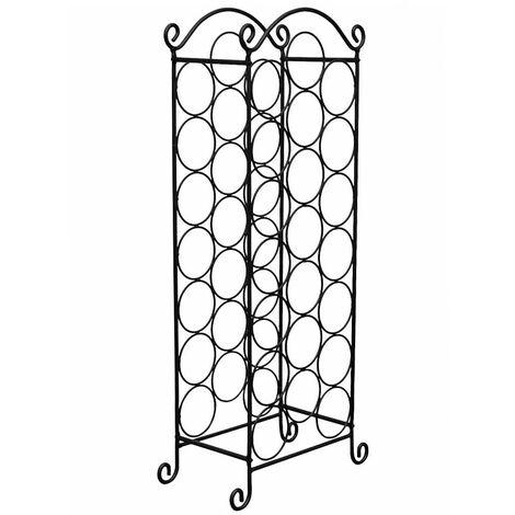"""main image of """"vidaXL Porta Bottiglie di Vino per 21 Bottiglie in Metallo - Nero"""""""