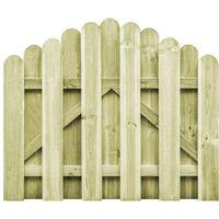vidaXL Portail de jardin Bois pin impregne 100x75 cm Design d'arche