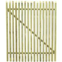 vidaXL Portail de jardin en piquets Bois de pin impregne FSC 100x125cm