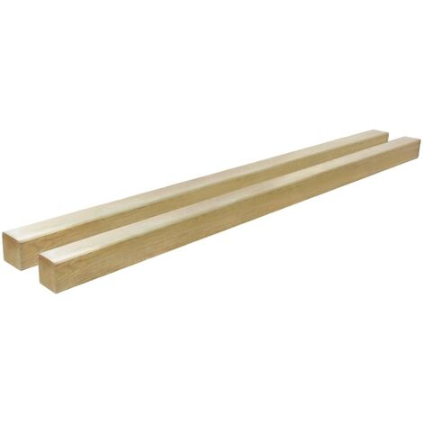 vidaXL Postes de valla 2 unidades madera pino impregnada 9x9x150 cm - Marrón