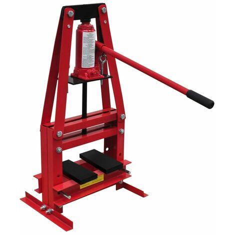vidaXL Presse Hydraulique d'Atelier sur Pied Installation Bagues Roulements Rotules Joints Universels Poulies Engrenages Garage 6/12/20 Tonnes