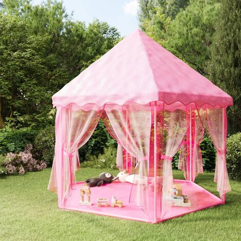 vidaXL Princess Play Tent Pink - Pink