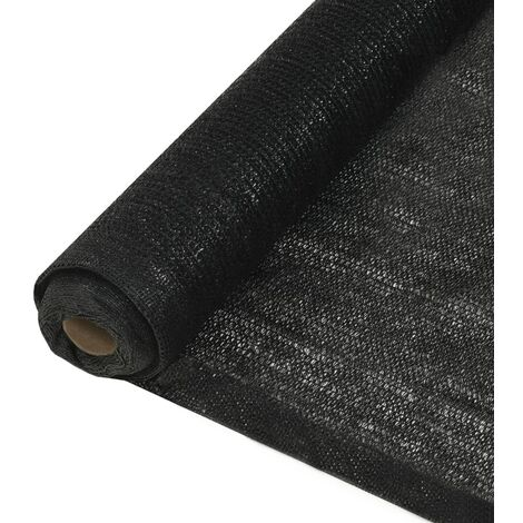vidaXL Privacy Net HDPE 2x25 m Black - Black