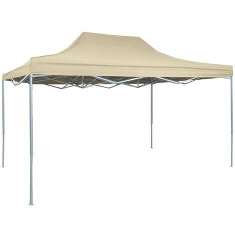 vidaXL Professional Folding Party Tent 3x4 m Steel Cream - Cream