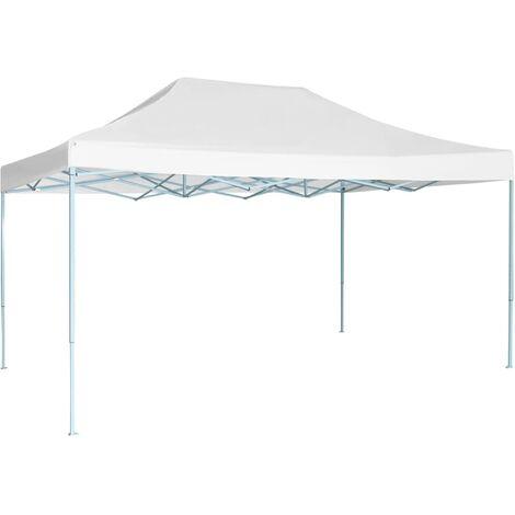 vidaXL Professional Folding Party Tent 3x4 m Steel White - White