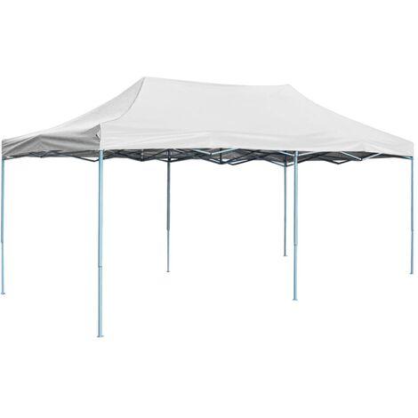 vidaXL Professional Folding Party Tent 3x6 m Steel White - White